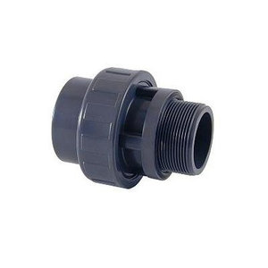 "PVC Union Limkoppling ø50 mm - utvändig gänga ø1½"""